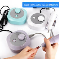 25000RPM Electric Rechargeable Nail Art Drill Machine Manicure Pedicure File