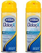 Dr. Scholl's Odor-X Odor Fighting Spray Powder Absorbs Sweat, For Feet (2 Packs)