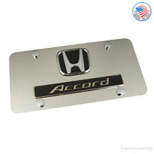Honda Chrome Logo + Accord Name On Polished License Plate