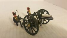 2 Metal Toy Soldiers- French Hussars With Cannon (161)