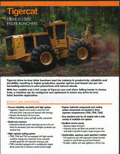 Tigercat Logging Timber Forestry Drive-To-Tree Feller Buncher Brochure Leaflet