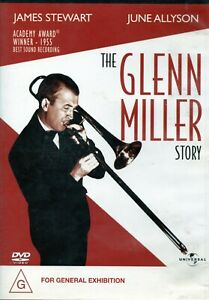 THE GLENN MILLER STORY. James Stewart, June Allyson. Inc. Subtitles. R4 DVD