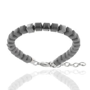 Pearl Bracelet Hämatitwürfel Matte & Shiny Men's Bracelet STORCH SCHMUCK Germany