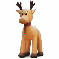 5M Jingle Jollys Christmas Inflatable Reindeer Giant Deer Air-Power Light inside