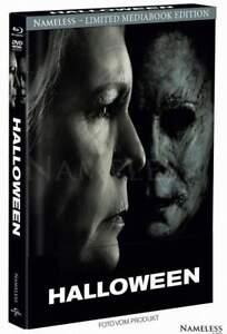 """""""HALLOWEEN"""" (2018) - Jamie Lee Curtis - Horror - BLU RAY + DVD MEDIABOOK Cover B"""