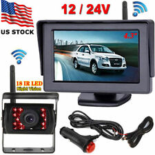 """Wireless 4.3"""" Rear View Monitor +Night Vision Backup Camera for Truck Trailer Rv"""