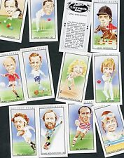 """DUTTON'S BEER 1981 SET OF 12  """"TEAM OF SPORTING HEROES"""" TRADE CARDS"""