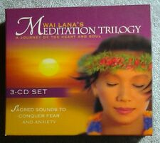 WAI LANA'S MEDITATION TRILOGY COMPLETE 3-DISC CD SET - CONQUER FEAR & ANXIETY