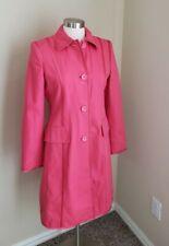 Banana Republic Hot Pink Cotton Trench Coat Jacket Size Medium