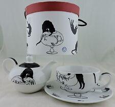 Cat Lover Gift Tea For 1 Pot Cup Saucer Black White Mma Met Art Museum Nib Rare