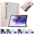 """For Galaxy Tab S7 FE/Plus 12.4"""" T970 T730 Smart Clear Folding Stand Case Cover"""