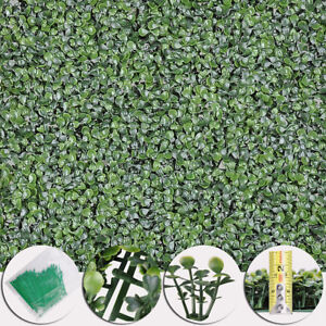 """12pcs 20x20"""" Artificial Boxwood Wall Hedge Mat Plant Panels Outdoor Grass Fence"""