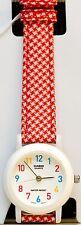 Casio LQ139LB-4B Classic Ladies Analog Watch Red Checker Cloth Band New