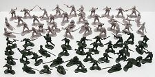 NEW 72 PCS ARMY MEN TOY SOLDIERS MILITARY FORCE GREEN PLASTIC FIGURINE FIGURE