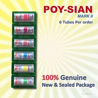 6x Poy Sian Poysian Mark II Nasal Inhaler Menthol Relief Dizzy Congestion