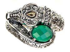 JAI John Hardy Green Agate Gemstone Sterling Silver Ring Size 6