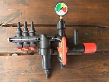 Brand New Sprayer 3 Section Type On Off Lever Pressure Control Valve Unit +Gauge