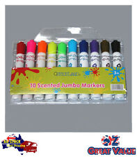 Pack of 10 Watercolour Markers Jumbo Scented Kid Scrapbooking Schooll TOM-P206