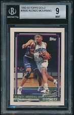 1992 93 Topps Gold rookie #393 Alonzo Mourning rc BGS 9 Mint