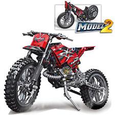 253pcs Motor Cross Bike Building Blocks Motorcycle Technic City Bricks Toys Gift