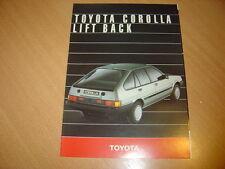 DEPLIANT Toyota Corolla Lift Back de 1985