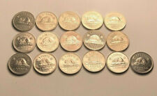 Canada 1990 to 2003  5 Cents Circulated Nickels 17 Coins Lot