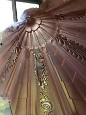 1930's Antique Art Deco Consolidated Shade Ceiling Chandelier Light Fixture