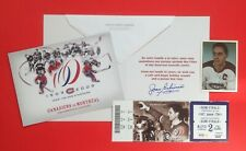 JEAN BELIVEAU Autographed 2012 Canadiens Christmas Card + '81 TCMA, Ticket Lot