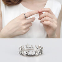 Damen Ring Krone echt Sterling Silber 925 Antik Optik Vintage