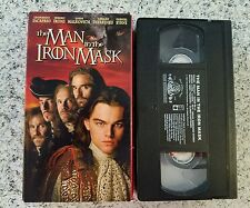 The Man in the Iron Mask Leonardo DiCaprio PG13 VHS Video Tape