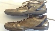 Alviero Martini 1° classe - colore oro - N° 40 - con stringhe - vero cuoio USATE