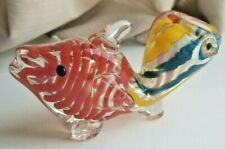 "Glass Fish Tobacco Pipe Thick Glass Approx 3.5"" Mulit-color"