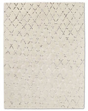 Restoration Hardware Pezza White / Grey Hand Knotted Rug 5x7 ft. Wool $2895