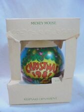 1981 Hallmark Keepsake Ornament Mickey Mouse ChristmasBall Sorcerer's Apprentice