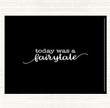 Black White Today Fairytail Quote Mouse Mat Pad