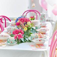 Vintage floral scrumptious paper party tableware decorations plates cups napkins