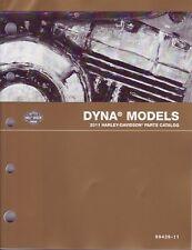 HARLEY Teile Buch 2011 FXD Dyna Wide Glide Street Bob Low Rider Custom 99439-11A