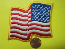US FLAG PATCH USA WAVY REVERSED STYLE100% EMBROIDERY*