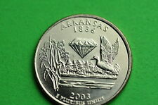 2003-D  BU Mint State (ARKANSAS)  Statehood  US Quarter