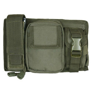 NEW - Tactical Military Triple Panel MOLLE Pouch for Mags & Lights OD OLIVE DRAB