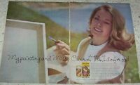 1977 ad page - Miss Clairol hair color blonde lady painting Vintage PRINT AD