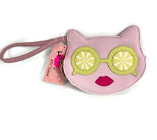 BETSEY JOHNSON Pink Cat Leather Summer LUV