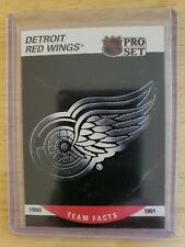 1990-91 Pro Set TEAM FACTS DETROIT RED WINGS Card #570