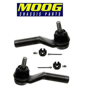 For Ford E150 E450 Pair Set of Two Front Outer Steering Tie Rod Ends MOOG