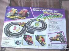POWER CYCLONE ROAD RACING SET  SLOTCAR SET BATTERY OPERATED  MOTORCYCLES