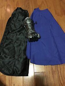 Boy's Black Cape, Blue Cape , And Knight Hand