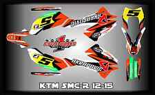 KTM 690 SMC-R smc SUPERMOTO 12-15  SEMI CUSTOM GRAPHICS KIT UNO