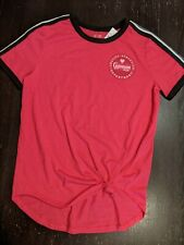 NWT Justice Active Pink Gymnast Team Shirt Size 14/16