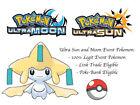 Pokemon Ultra Sun and Moon 2017 Tanabata Jirachi Japan Event Pokemon