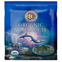 Organic Seaweed Nori | Raw Dried Vegan Keto Kosher Sushi Snacks | 10 Sheets